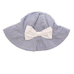 Janie and Jack Striped Bow Bucket Hat, 12-18M NEW